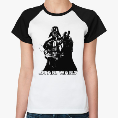 Женская футболка реглан Darth Vader (Дарт Вейдер)