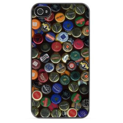 Чехол для iPhone Пивные крышки