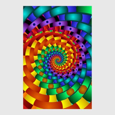 Постер Радужный вихрь