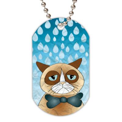 Жетон dog-tag  Кот и дождь