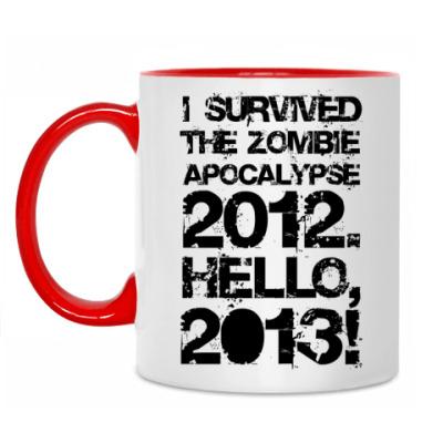Кружка I survived 2012. Hello, 2013!