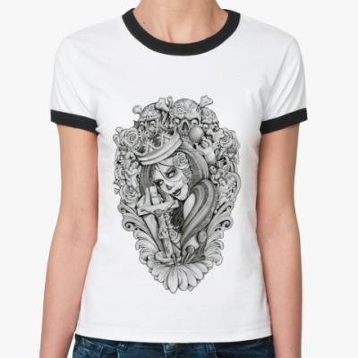 Женская футболка Ringer-T Mouses Crown