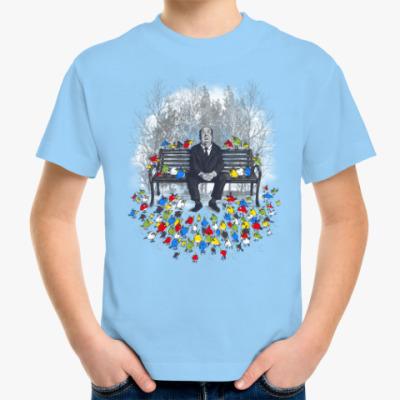Детская футболка Альфред Хичкок - птицы