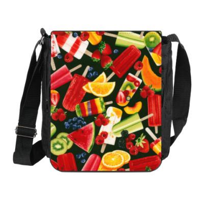 Сумка на плечо (мини-планшет) фрукты