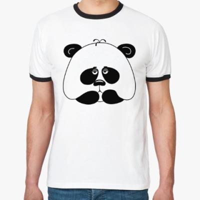 Футболка Ringer-T Грустная панда