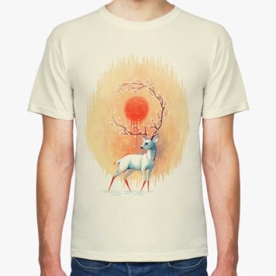 Футболка Дух весны белый олень