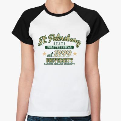 Женская футболка реглан  Политехнический СПб