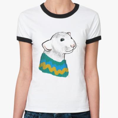 Женская футболка Ringer-T Мышонок Пеппа