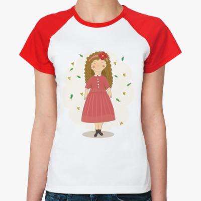 Женская футболка реглан Маша