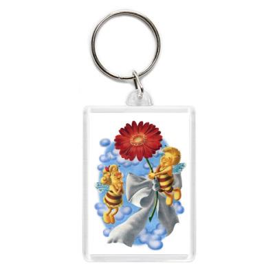 Пчёлки и цветок
