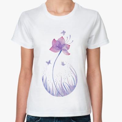 Классическая футболка Лунный цветок