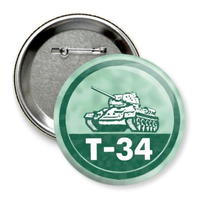 Значок 75мм Танк Т-34