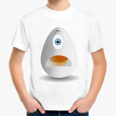 Детская футболка Удивленное яйцо