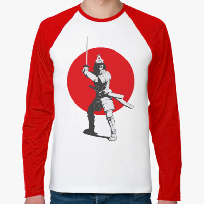 Футболка реглан с длинным рукавом Red sun. Самурай