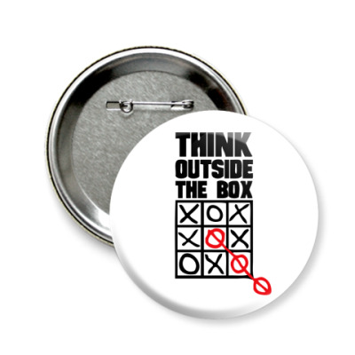 Значок 58мм  Think Outside The Box