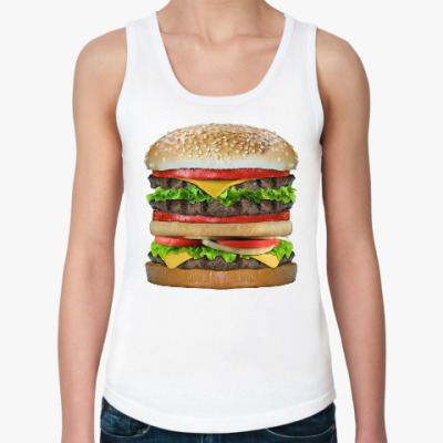 Женская майка Вкусняшка гамбургер