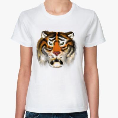 Классическая футболка Огненный тигр