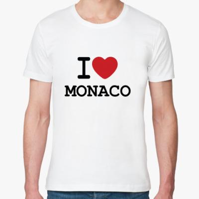 Футболка из органик-хлопка   I Love Monaco