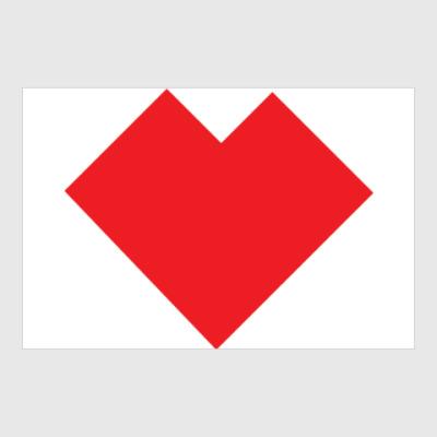 Постер Сердце танграм