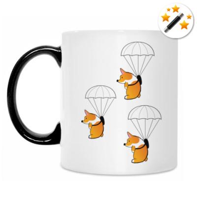 Кружка-хамелеон смешные собаки корги