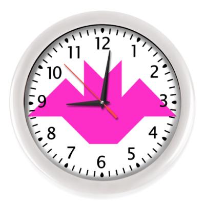 Настенные часы Летучая мышь танграм
