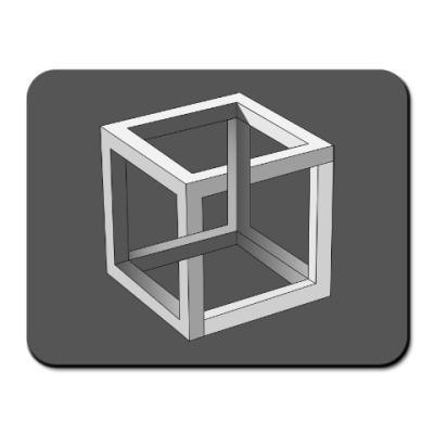 Коврик для мыши Невозможный Куб 3D