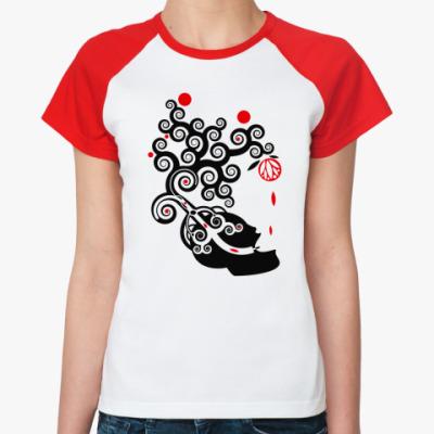 Женская футболка реглан 'Голова'