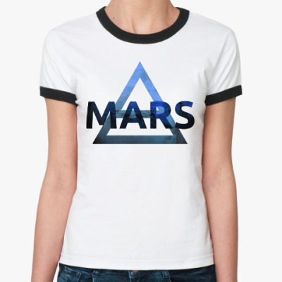 Женская футболка Ringer-T Mars Triad