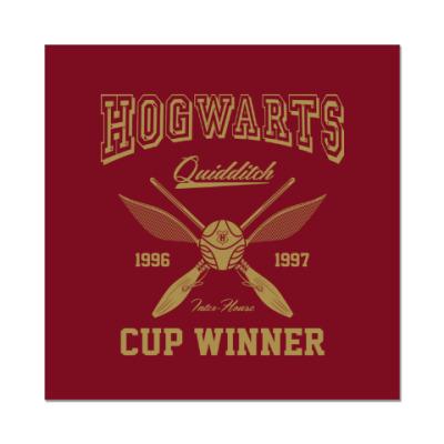 Наклейка (стикер) Hogwarts Quidditch Cup Winner