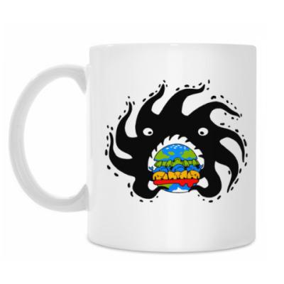 Кружка Black hole eating a globurger