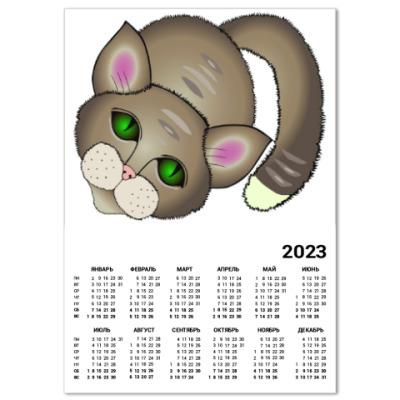 Календарь Грустный котик