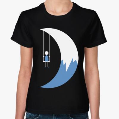 Женская футболка Качели на Луне
