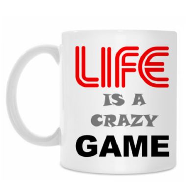 Кружка LIFE IS A CRAZY GAME