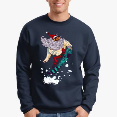 Свитшот Санта Клаус сноубордист
