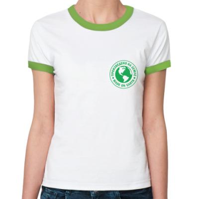 Женская футболка Ringer-T для землян