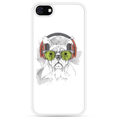 Чехол для iPhone Собака в зеленых очках