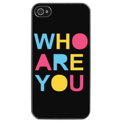 Чехол для iPhone Who are you?