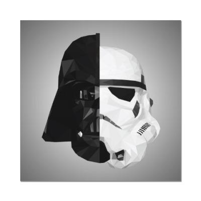 Наклейка (стикер) Star Wars: Вейдер и Штурмовик