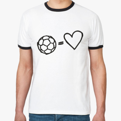 Футболка Ringer-T Футбол равно любовь