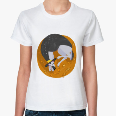 Классическая футболка Спящая восточноевропейская овчарка