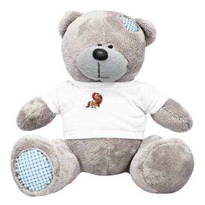 Плюшевый мишка Тедди Медведь с лошадкой