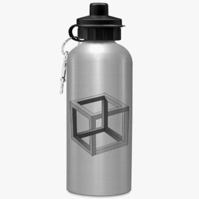 Спортивная бутылка/фляжка Невозможный Куб 3D