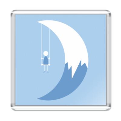 Магнит Качели на Луне