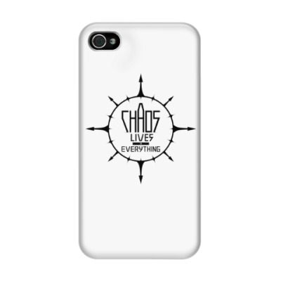 Чехол для iPhone 4/4s Chaos lives in everything