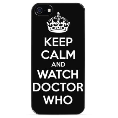 Чехол для iPhone KEEP CALM and WATCH DOCTOR WHO