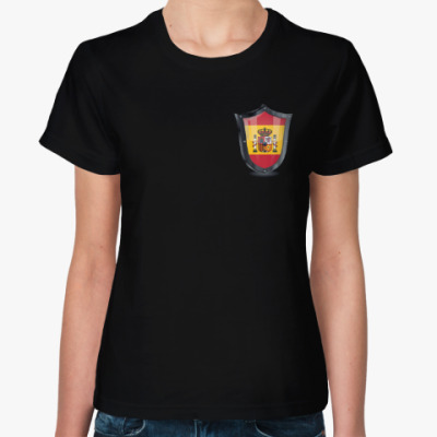 Женская футболка Болеем за Испанию!