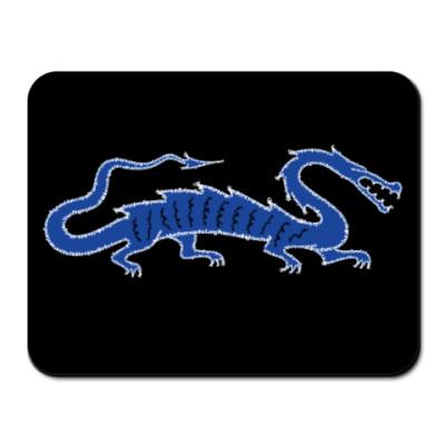 Коврик для мыши Дракон синий