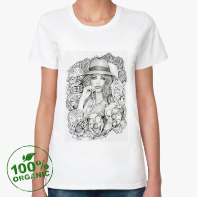 Женская футболка из органик-хлопка Old School Girl