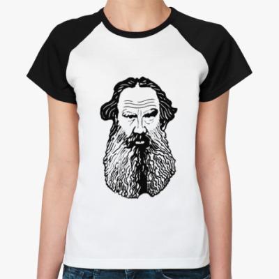 Женская футболка реглан Лев Толстой