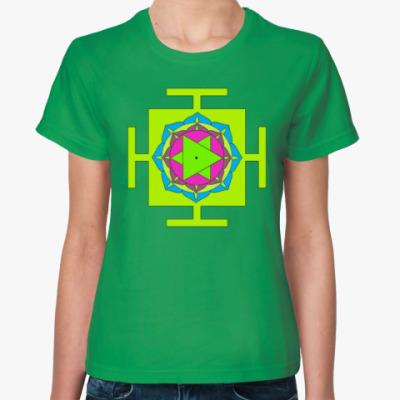 Женская футболка Бхуванешвари-янтра